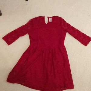Arizona Jean Co. Red lace dress